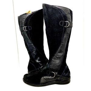 Clarks Nikki Midtown Suede/leather Black Boot 9.5W